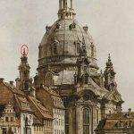 Historisches Gemälde Frauenkirche Dresden