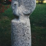 Gartenplastik Pfau von Elmar Vogel
