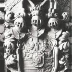 Kurfüstliches Wappen Schloss Heidelberg Friedrichsbau, Replik aus Eifelsandstein