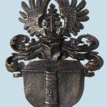 Familienwappen Bronzeguss von Roland Vogel