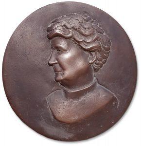 Medaillon-Bronze-von-Elmar-Vogel
