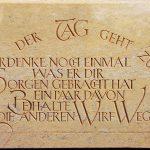 Schrifttafel-Sandstein
